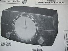 MOTOROLA 6X11U & 6X12U RADIO PHOTOFACT