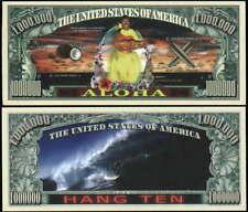 Aloha - Hang Ten Million Novelty Dollar -Lot Of 2 Bills