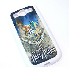 Samsung Galaxy S3 / SIII -White Harry Potter Hogwarts School Hard TPU Gummy Case