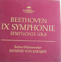 """Beethoven Ix.symphonie Symphony NR.8 Karajan Bpo- Dg Gesellschaft -12 """" LP"""