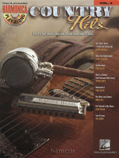 Country Hits Harmonica Play-Along Vol 6 Sheet Music Book/CD