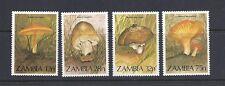 Zambia 1984 Mushrooms Champignons (Sc 315-18 complete) Vf Mnh