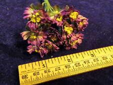 "Vintage Millinery Flower Purple Doll Size 1"" Lot 12pc for Hat Wedding + Hair K75"