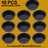 10PCS Rear Lens Cap Dust Cover for Canon EF EOS Series DSLR Camera Lens Black