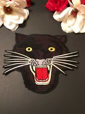 Large Leopard Angry Cat Embroidered Iron On Fashion Patch DIY Applique Double G
