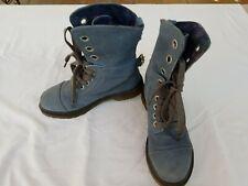 Dr. Martens Blue Suede Aimee Lace-Up Boots Women's US 8, UK6, EU39