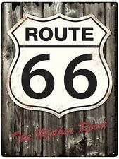 Route 66 The Mother Road RHL Tin Metal Wall Sign