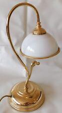 TISCHLAMPE Messing JUGENDSTIL Opalglas LESELAMPE Schreibtischlampe TISCHLEUCHTE
