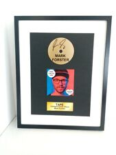 Or Disque / CD Mark Forster Signé Cadre Autographe Signature