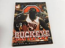 1997 BUCKEYE BATTLE CRY Basketball 1-17-98 Michigan St. John Arena Farewell