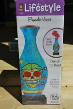 LIFESTYLE PUZZLE VASE, 160 PIECES, DAY OF THE DEAD, NEW SEALED