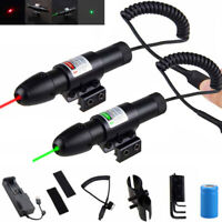 Tactical 532nm Red/Green Laser Sight Scope Lazer Switch For Hunting Riflescope