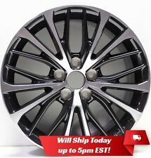 "New 18"" Machined Black Alloy Wheel Rim for 2018 2019 Toyota Camry - 75221 - SE"