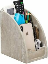 Wooden Remote Control Holder Caddy Media Organizer Office Supply Storage Rack