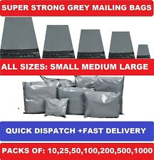 More details for grey mailing bags strong poly postal post postage self seal packaging strong