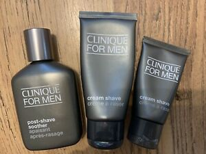 CLINIQUE FOR MEN Post-Shave Soother 75ml + Cream Shave 60ml & 30ml