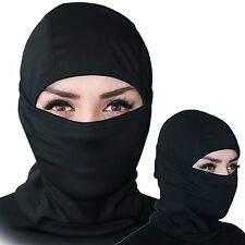 Balaclava Ski Mask Premium Face Ninja Mask Motorcycle Neck Warmer BLACK