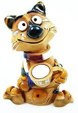 Räuchermann Räucherfigur Keramik Dekoration Katze Handarbeit