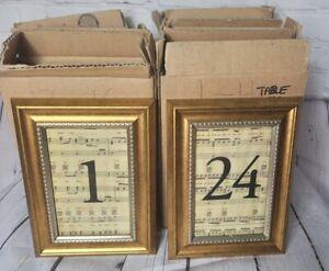 Wedding Table Numbers #1-24  ALL MY LIFE Lyrics K-Ci & JoJo 4x6 Frames