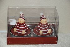 Christmas Holiday Candles - Kids in Pjs (Set of 2) New (4805)