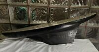 """36"""" ANTIQUE early 1900s Hollow Wood Pond Yacht Boat Hull Sailboat Metal keel"""