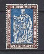 REGNO 1928 Emanuele Filiberto 20c dent 13 1/4 MNH** SPL Ottima Centratura
