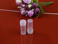 50Pcs Plastic Sample Bottle 5ml Test Tube Small Bottle Vial Storage Container 5g