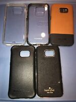 Lot Of 5pc Case Mate,Ballistic, Jack & Kate Spade,Puregear Cases For Samsung S7