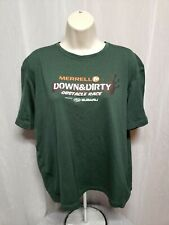 Merrell Down & Dirty Obstacle Race Womens Green XL Jersey