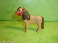 Playmobil: poney brun playmobil / brown pony