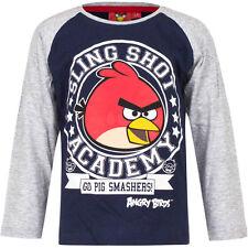 Camisa Jersey Niños ANGRY BIRDS Azul Gris Oliva Rojo 104 116 128 140 #167