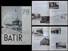 BATIR N°78 1939 EXPOSITION DE L'EAU LIEGE, GROUPE L'EQUERRE, FALISE MOUTSCHEN