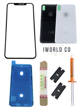 iPhone X Front Glass Screen Back Replacement Battery Cover Door Repair Kit Set