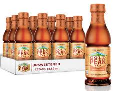Gold Peak Iced Tea, Unsweetened Tea, 16.9Fl Oz, (12-Pack) Brand New. Ships Fast