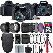 Canon PowerShot SX70 HS Camera + 7 PC Filter Kit + Extra Battery - 64GB Bundle