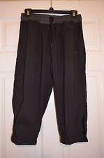 Nike Womens M Medium Dri Fit Capri Length Athletic Pants - Black / Gray New