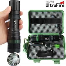 Tactical 20000LMS T6LED 18650Military ZOOM Flashlight Torch+18650+Charger+Case/d