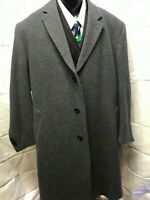 Jos A Bank 100% Wool 3 button blk/gray overcoat. 46R