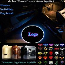 2x Wireless Sensor Car Door Welcome Laser Projector Shadow CREE LED Logo Light