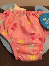 Nwt iPlay Baby 6 months Upf 50+ Reusable Swim Diaper Swimsuit Lt Pink Popsicles