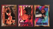 MIKE TYSON Roy Jones Jr Lennox Lewis 1996 ringside SAMPLE PROMO BOXING CARD Set