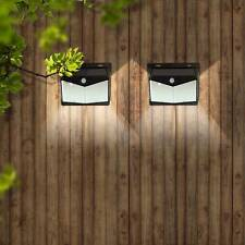 SOLAR POWERED LED FENCE LIGHTS OUTDOOR WALL GARDEN DOOR LIGHTING SHED PATH