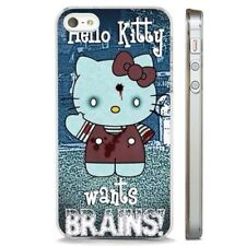 Hello Kitty Funny Zombie Art CLEAR PHONE CASE COVER fits iPHONE 5 6 7 8 X