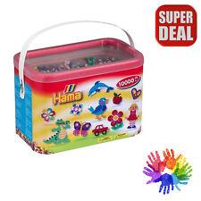Hama Beads Perler Bucket Set 10,000 Beads Great Creative Kids Color Fun Toys