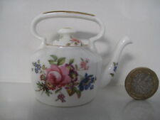 RARE MINIATURE HAMMERSLEY PRETTY PINK ROSES HOWARDS SPRAYS KETTLE SHAPED TEAPOT