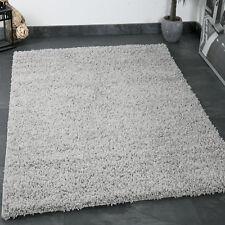 Teppich Hochflor Shaggy Teppiche Langflor Grau Wohnzimmer Pflegeleicht NEU