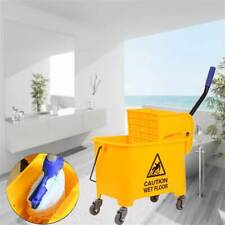 5 Gallon 20L Mini Mop Bucket with Wringer Combo Commercial Rolling Cleaning Cart