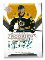 2019-20 ULTIMATE COLLECTION #101 TRENT FREDERIC RC AUTO ROOKIE /299 BRUINS