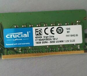 Crucial 16GB DDR4 PC4-3200 UDIMM PC Desktop RAM