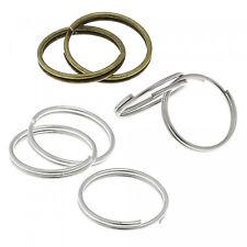 50 Stück Schlüsselringe 15mm Spaltring altsilber innen 12m Key Ring